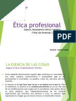 Clase del 12 de mayo de ética profesional. esencia y Amanda labarca (valores del pensamiento crÃ_tico y respeto)