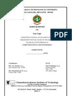 General seminar report format finalized