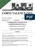 Comissió de Governació 11-3-2011 *  Debat i votació Llei SPEIS