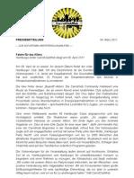 Pressemitteilung zum CarrotClubMob am 09.04.2011