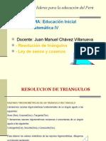 TRIANGULOS RECT. LEY SENO Y COSENO