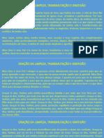 ORAÇÃO DA LIMPEZA, TRANSMUTAÇÃO E GRATIDÃO
