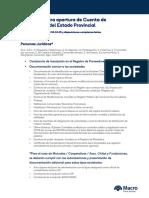 Requisitos de Apertura de Cuentas Proveedores del Estado - SGP
