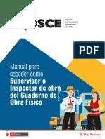 Manual para acceder como Supervisor o Inspector de obra del cuaderno de obra físico