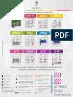 Calendario escolar 2021-2022 EdoMéx