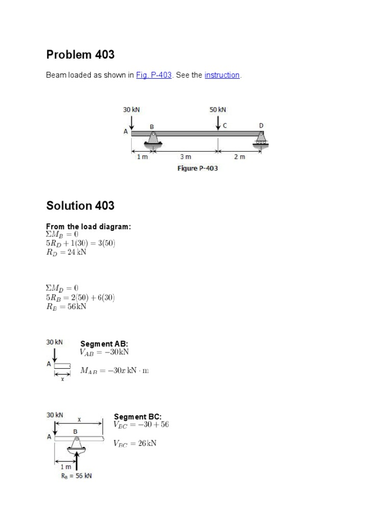 Problems On Sfd Bmd Beam Structure Stress Mechanics Question Drawthe Shear Force And Bending Moment Diagrams