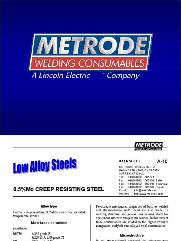 Metrode Consumables Welding Wire