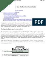 FDA_Nutritional_Facrs_Label