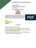 ACTIVIDADES A DESARROLLAR EN LA CLASE DE ESPAÑOL I 2 SEMANA