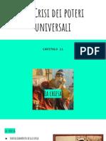 11. La Crisi Dei Poteri Universali