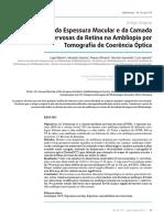 Avaliação da Espessura Macular e da Camada  das Fibras Nervosas da Retina na Ambliopia por Tomografia de Coerência Óptica