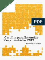 2013 Cartilha de Emendas Parlamentares mj