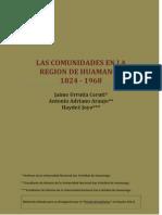 Las comunidades en la región de Huamanga 1824-1968