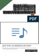 Medidas de peso y conversiones
