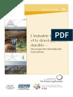 L'Industrie Miniere Et Le Developpement Durable IFDD 2017