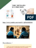 UTILIZANDO  MENSAJES CLAROS Y PRECISOS- SESIÓN N° 2