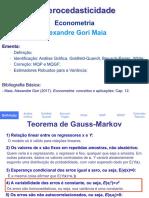 Heterocedasticidade - Alexandre Gori