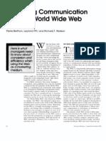Pierre Berthon (1996) - Marketing communication and the world wide web