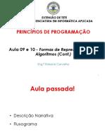 Apresentação_Aula-09 e 10 Formas de representação de algoritmos (Cont.)