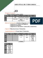 Calendario Final de Curso 2010/2011