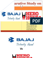 Ppt on Bajaj vs Hero Honda