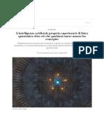L'Intelligenza Artificiale Progetta Esperimenti Di Fisica Quantistica Oltre Ciò Che Qualsiasi Essere Umano Ha Concepito - Scientific American