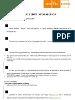 StuNed Form (Master Prog - Deadline 31 Mar 11)