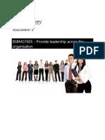 BSBMGT605 Assessment 3