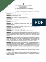 Questões de Hematologia (Avaliação 01) EDT