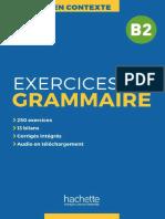En Contexte - Exercices de Grammaire B2
