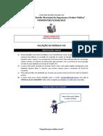 AVALIAÇÃO DO MÓDULO VIII_CURSO BÁSICO DE COMANDO EaD