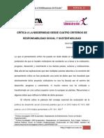 4. Bis Crítica a La Modernidad Desde Cuatro Criterios de Responsabilidad Social y Sustentabilidad. (1)