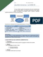 Noções de Contratos Administrativos _ 8666 de 93