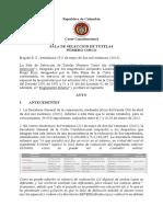 Auto Sala de Seleccion 31 de Mayo de 2021 Notificado 17 de Junio de 2021