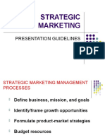 STRATEGIC MARKETING PRESENTATION GUIDELINES