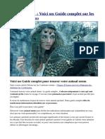 Animal Totem Dossier Complet