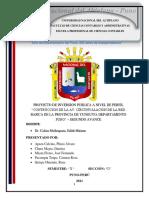 2do Avance_pip Contruccion de La Av. Circunvalacion de La Red Basica de La Provincia de Yunguyo, Departamento Puno