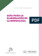 Guía para la elaboración de la ordenanza de PP
