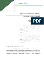 A pedagogia histórico crítica - Dermeval Saviani