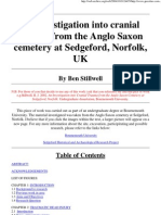 An Investigation into Cranial Trauma from the Anglo-Saxon Cemetery at Sedgeford, Norfolk, UK