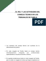 6. El Rol y las actividades del Consejero Técnico