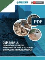 Guía para la Evaluación de los efectos probables frente al impacto del peligro originado por fenómenos naturales
