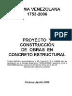 20327900 COVENIN 1753 2006 Proyecto y Contruccion de Obras en Concreto
