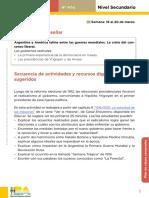 Secuencia protestas obreras 4º historia