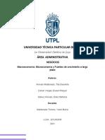 Negocios-Macroeconomía y Microeconomía
