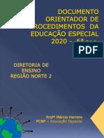 Documento Orientador Dos Procedimentos Da Educação Especial Formularios Relatorios e Procedimentos Marcia Herrera