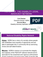 National Disability Rights Network Webinar with Autism NOW March 22, 2011
