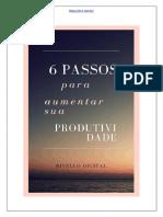 06 Passos Para Aumentar Sua Produtividade Pessoal