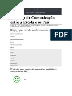 Pesquisa da Comunicação entre a Escola e os Pais