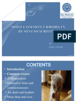 Most common errors in english, pakistan